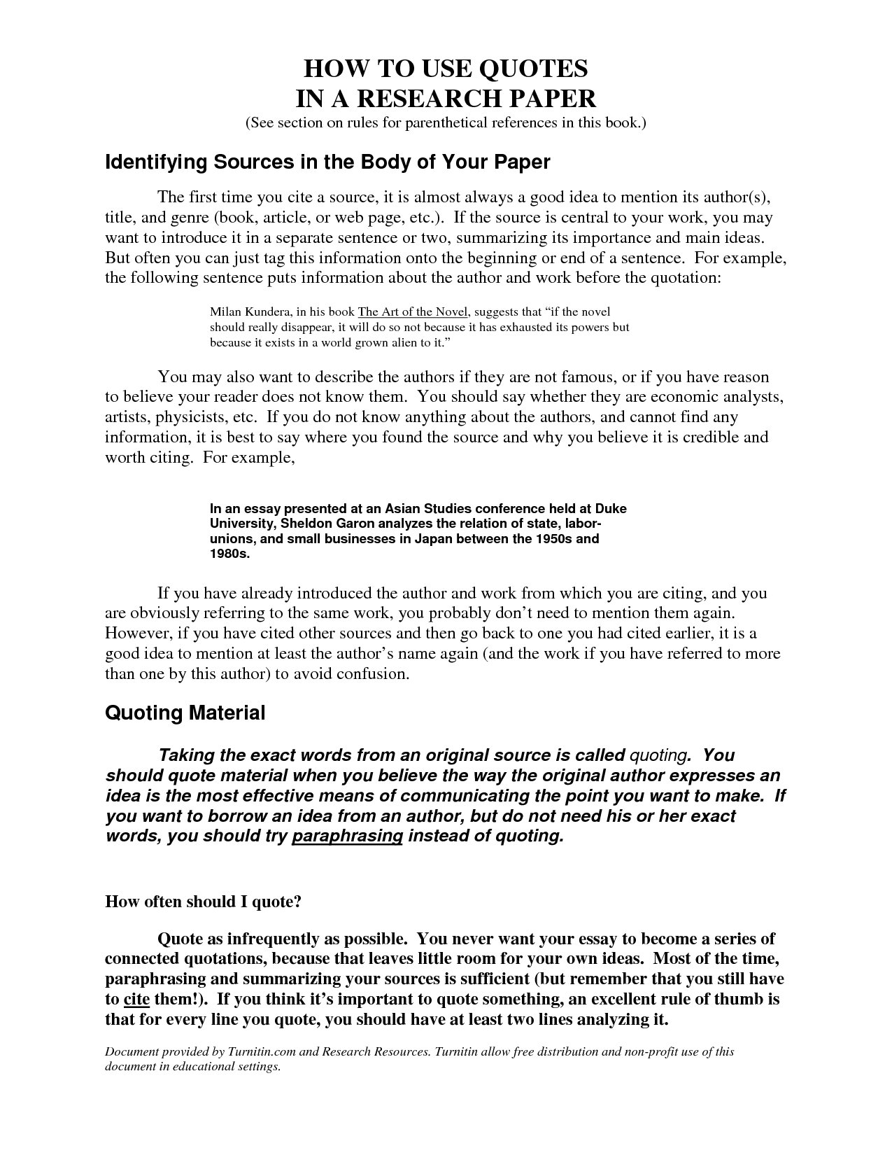 Essay With Long Quotes Example   How Do You Quote An Essay In