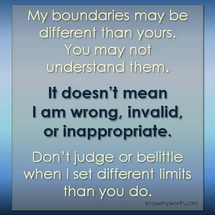boundaries in a dual relationship