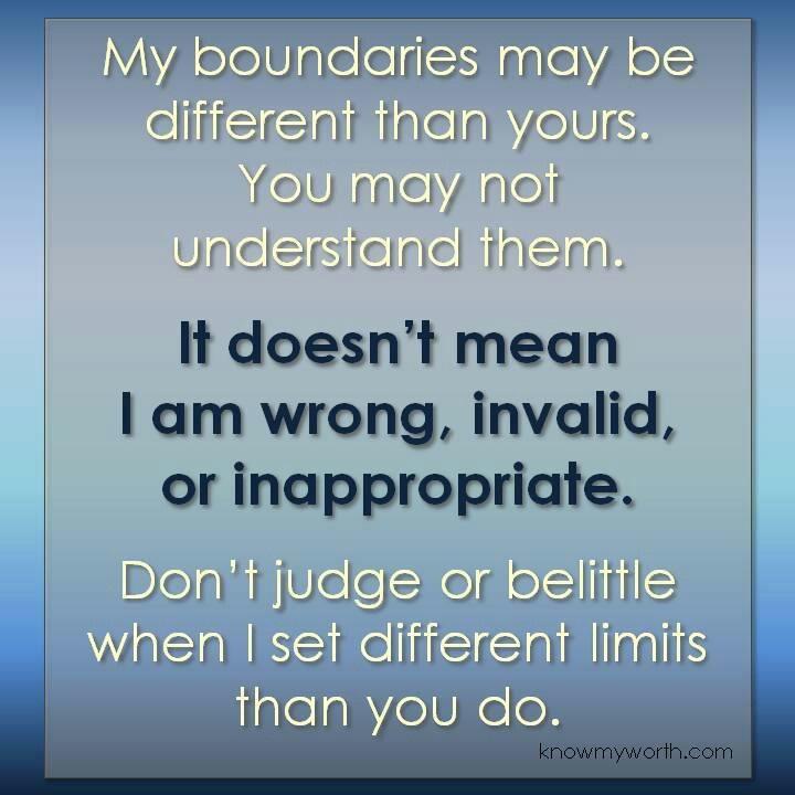 boundaries in a dual relationship
