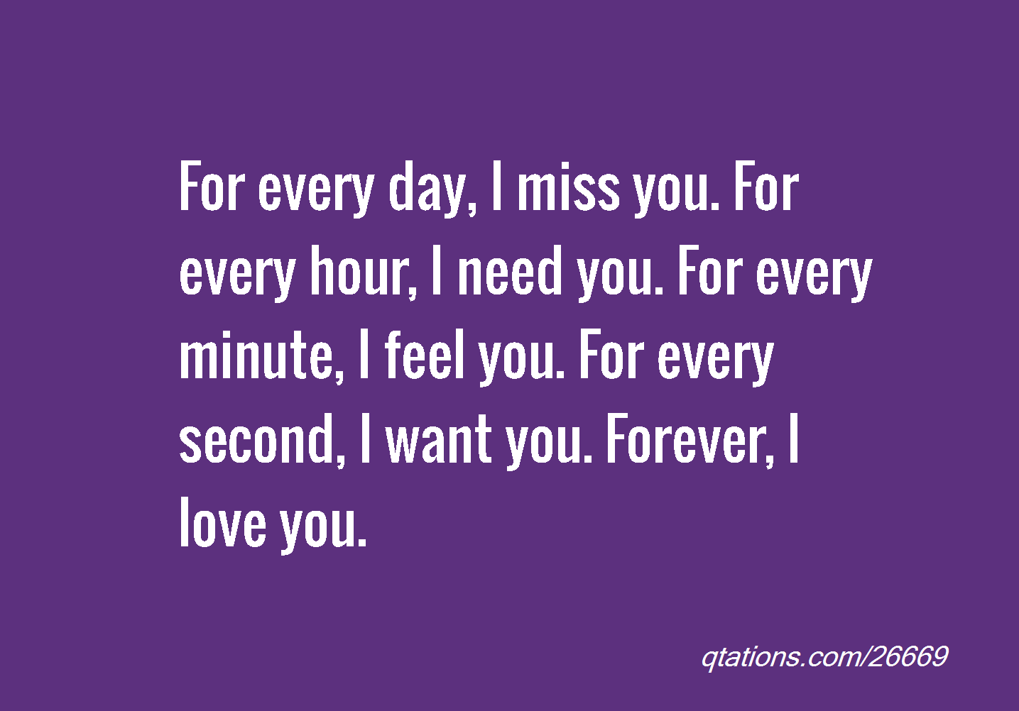 Want You Forever Quote...