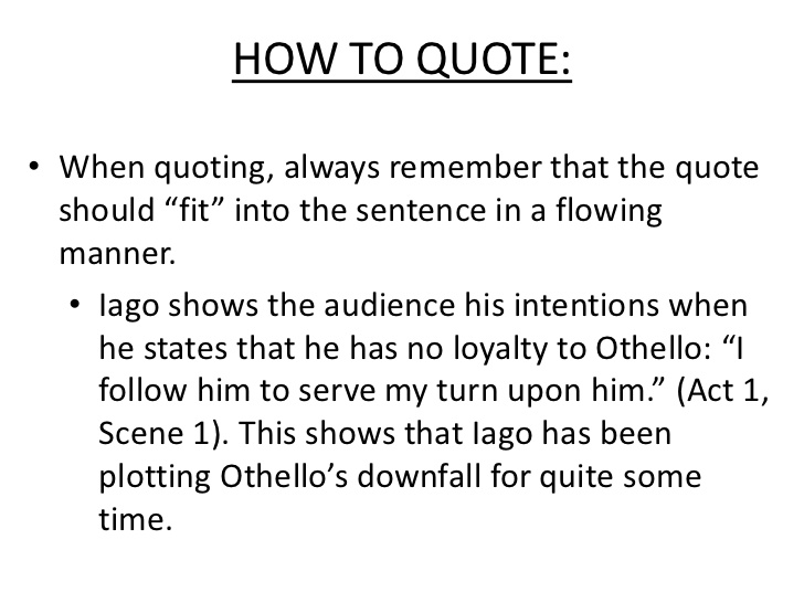 Compare lago and Othello's character in Othello.