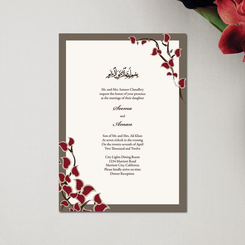 Nikah Invitation Wording for adorable invitations sample