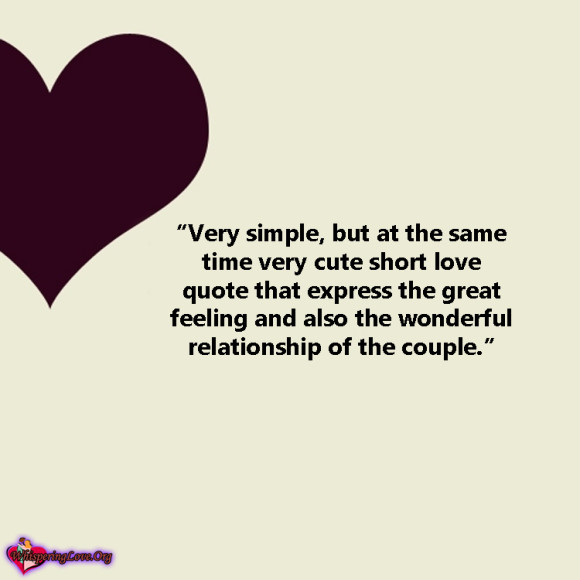 Cute Simple Quotes About Life: Easy Cute Love Quotes. QuotesGram