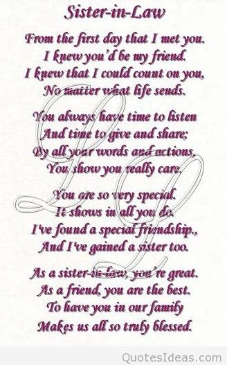 Happy Birthday To A Special Sister Quotes: Halloween Happy Sister In Law Birthday Quotes. QuotesGram