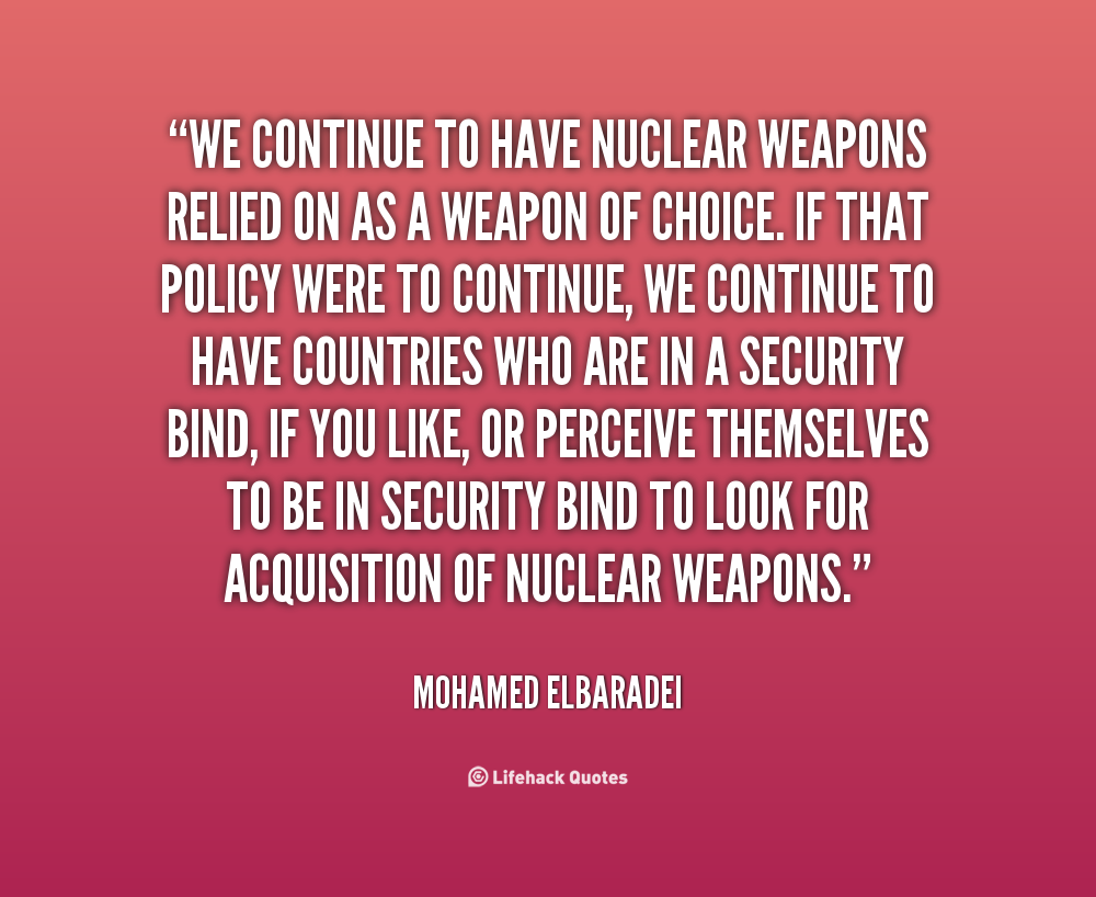 why iran cannot have nuclear weapons Iran asserts that there is no legal basis for iran's referral to the united nations security council since the iaea has not proven that previously undeclared activities had a relationship to a weapons program, and that all nuclear material in iran (including material that may not have been declared) had been accounted for and had not been .