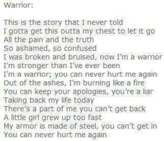 Lyrics to against the world