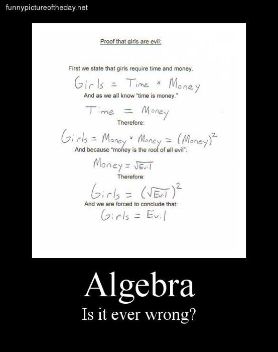 Funny Quotes Algebra. QuotesGram