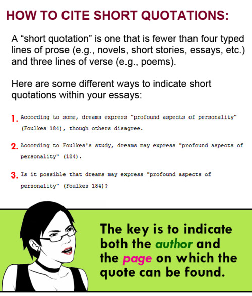 quote short story in essay A short guide to close reading for literary using literary quotations it's customary to attribute quotations to the speaker for a story with a narrator.