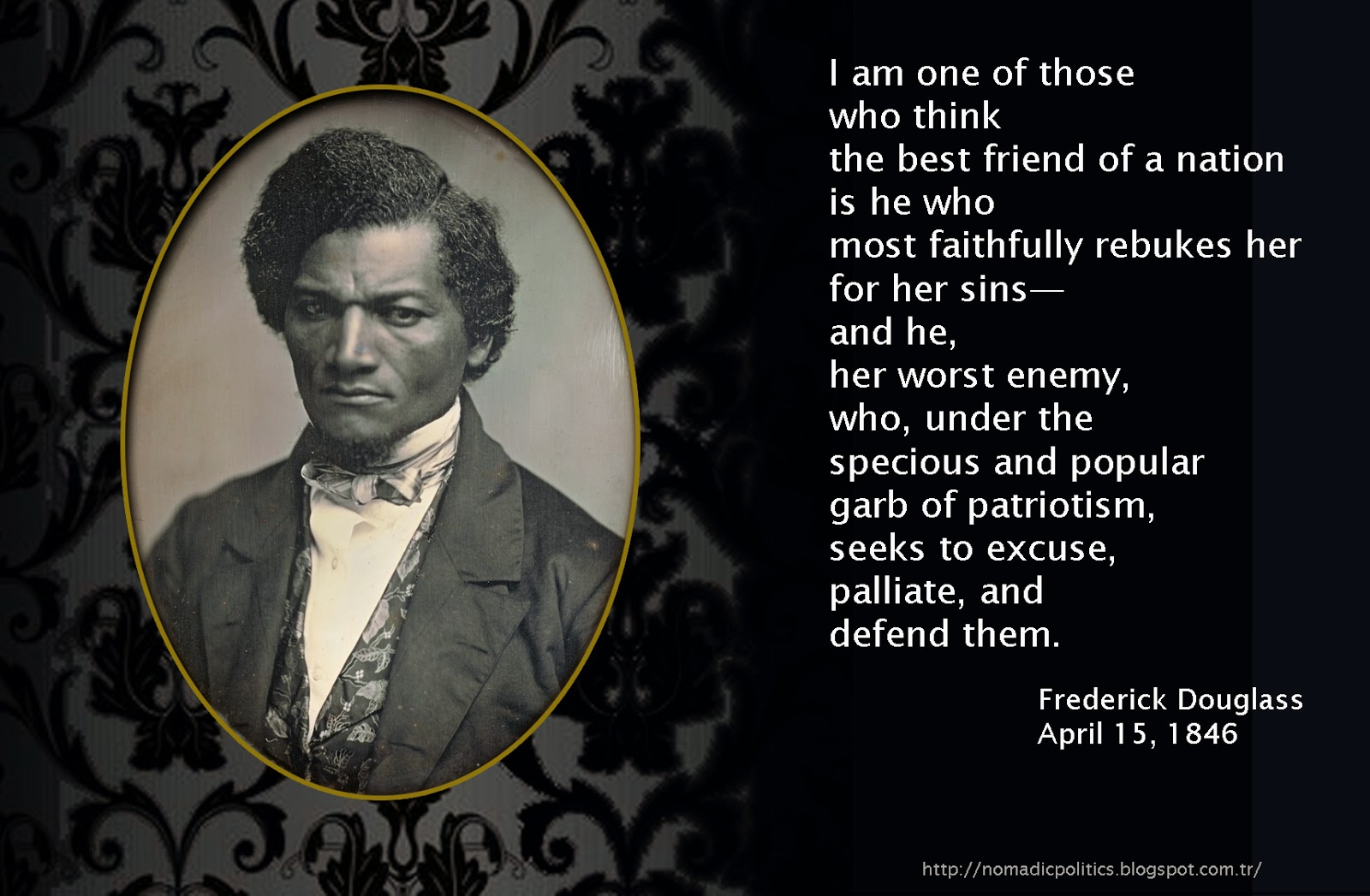 what it was like to be a slave according to frederick douglass Frederick douglass was a prominent american abolitionist, orator and author  born a slave, douglass escaped at age 20, and his three autobiographies are   not from me, but remained like ministering angels to cheer me through the gloom .