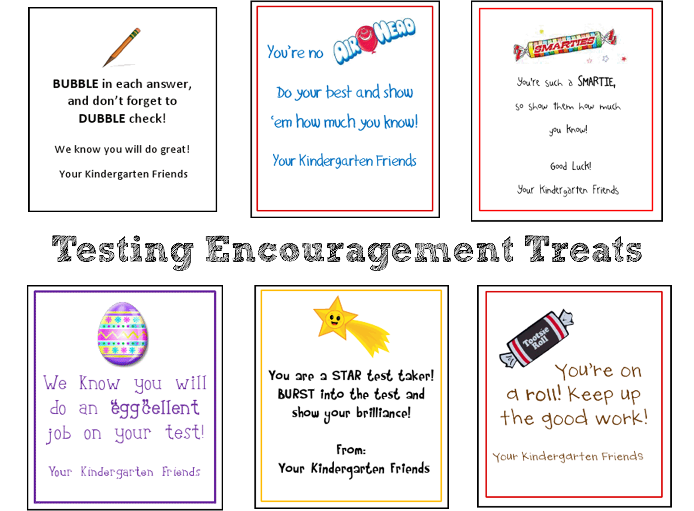 It's just an image of Légend Encouraging Notes for Students During Testing Printable