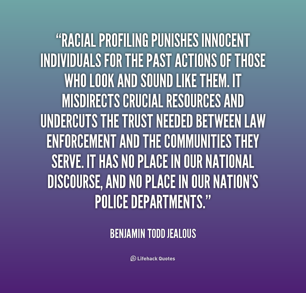 is racial profiling a protocol or prejudice Racial profiling: individual prejudice or organizational protocol kelly baymiller march 26, 2005 racial profiling is generally defined as discrimination put into action based on a stereotype.