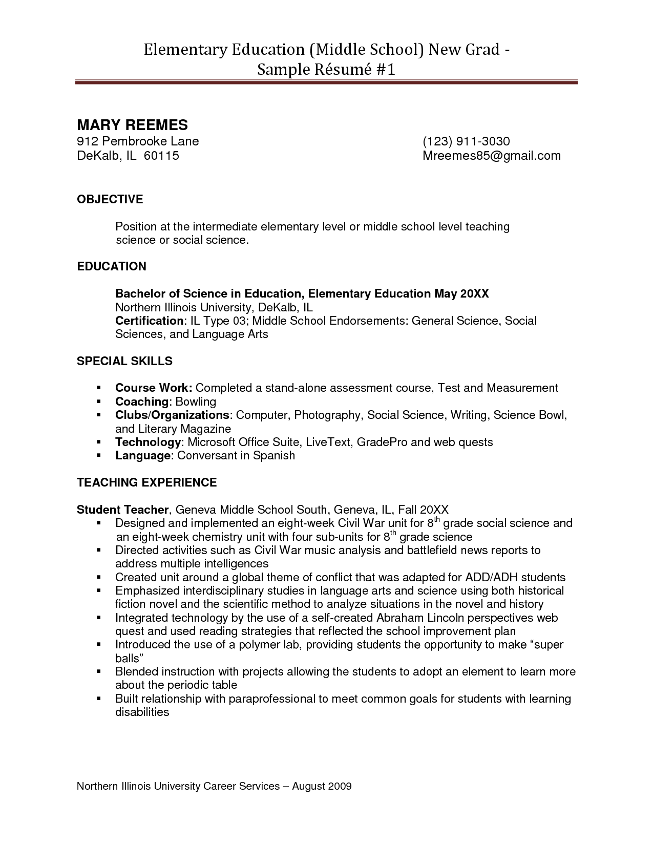 Sample resume for paraprofessional position for Sample resume for paraprofessional position