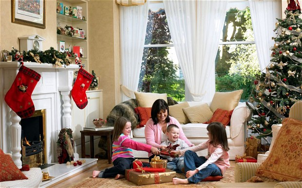 Christmas Backdrop Living Room