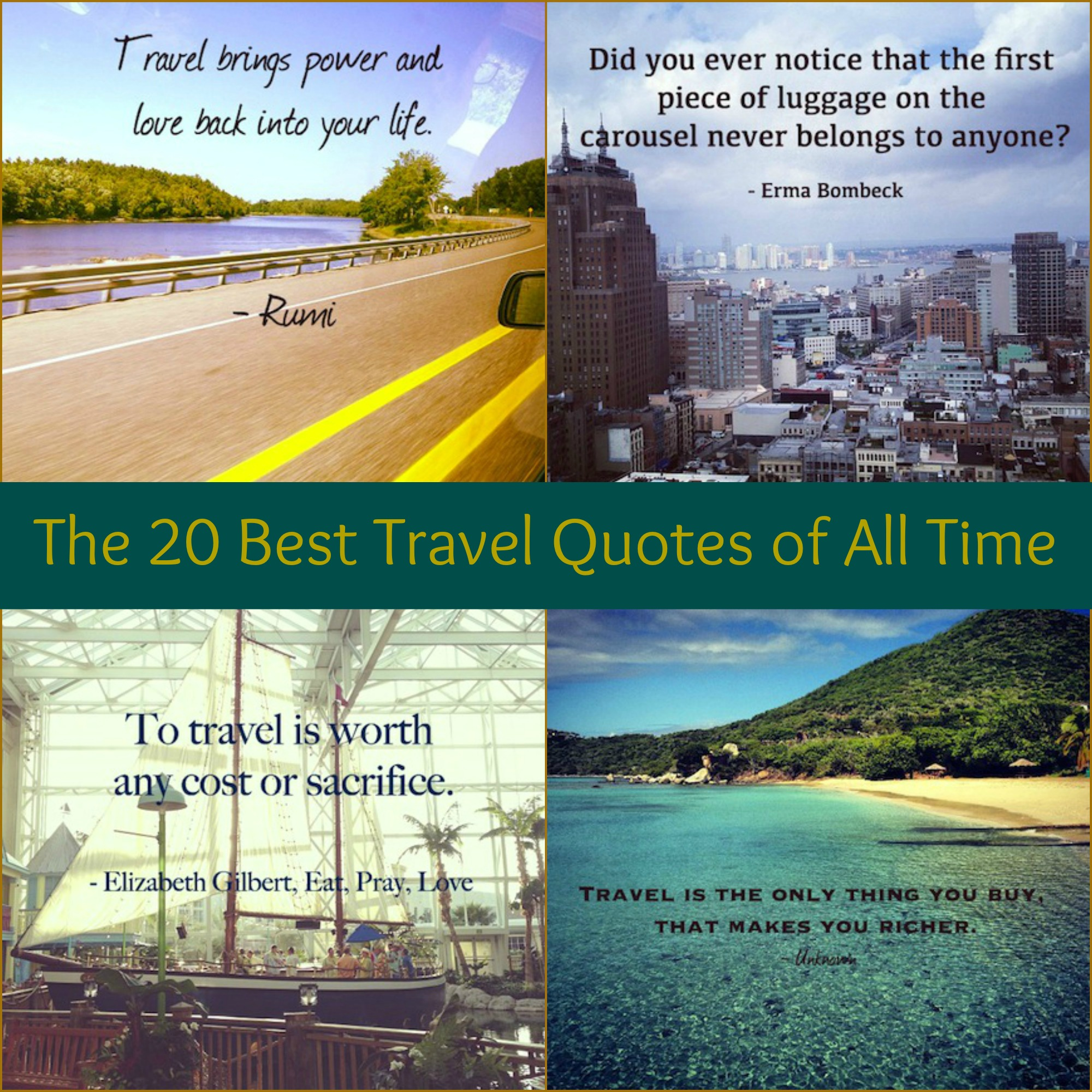 20 Of The Most Inspiring Travel Quotes Of All Time: Famous Travel Quotes Journey. QuotesGram