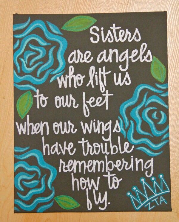 Quotes On Canvas A Sister Quotesgram