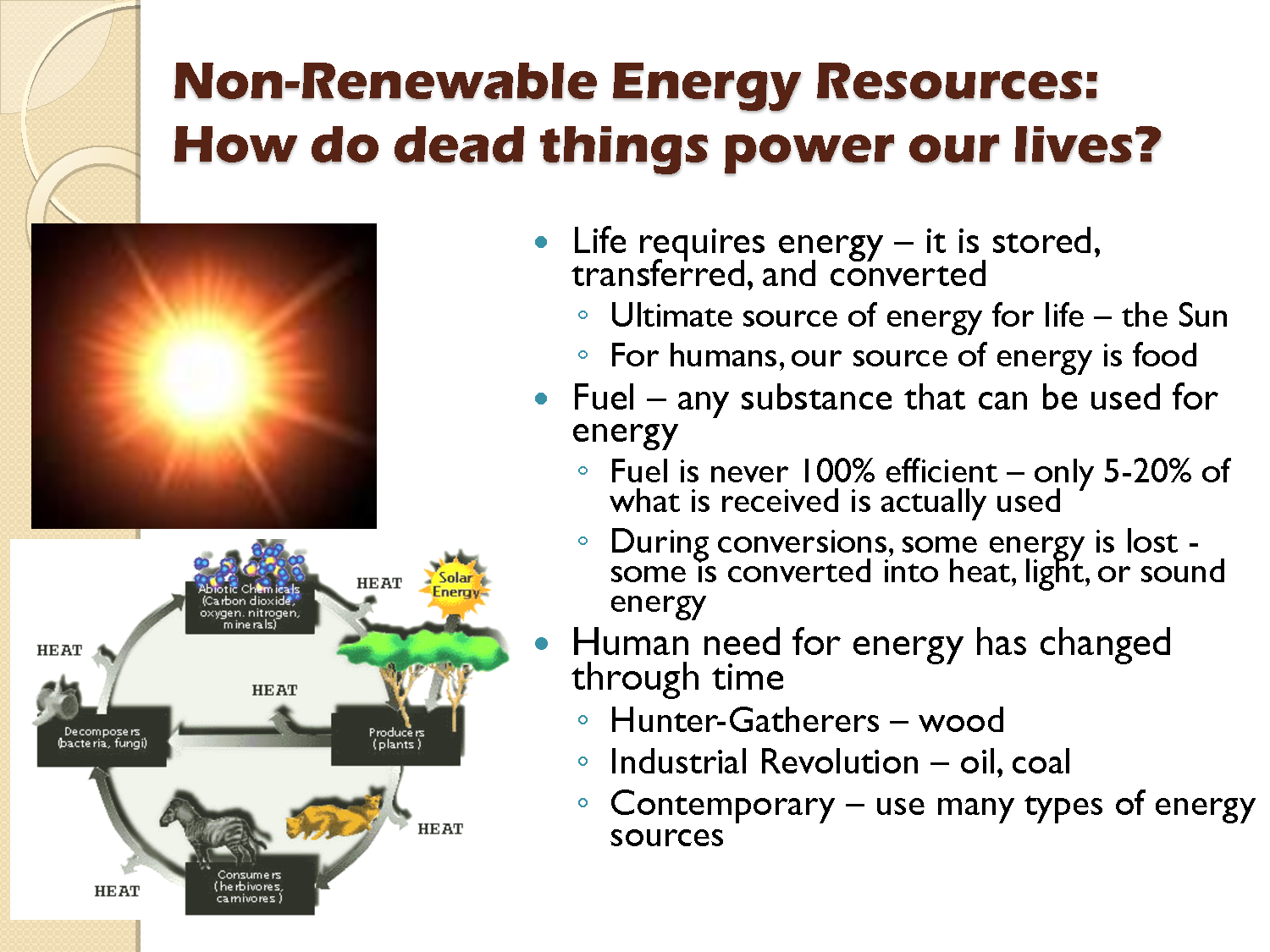 Renewable resource