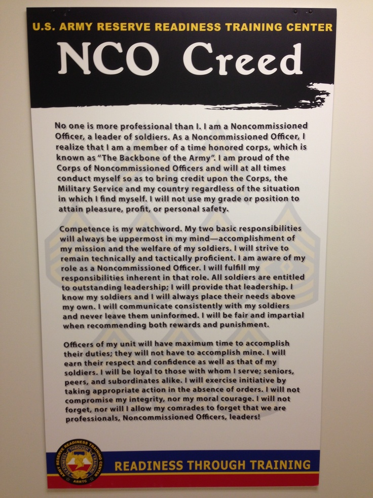 essay on what the nco creed means
