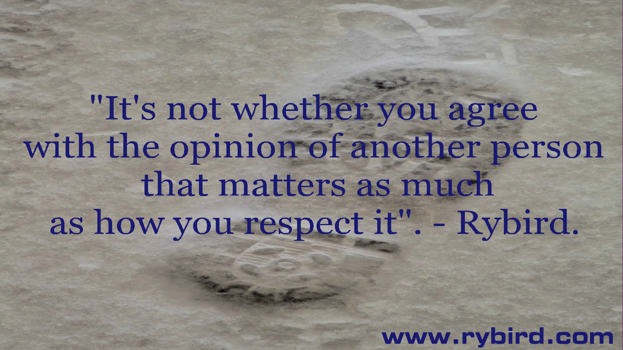 Quotes About Respecting Others Opinions. QuotesGram
