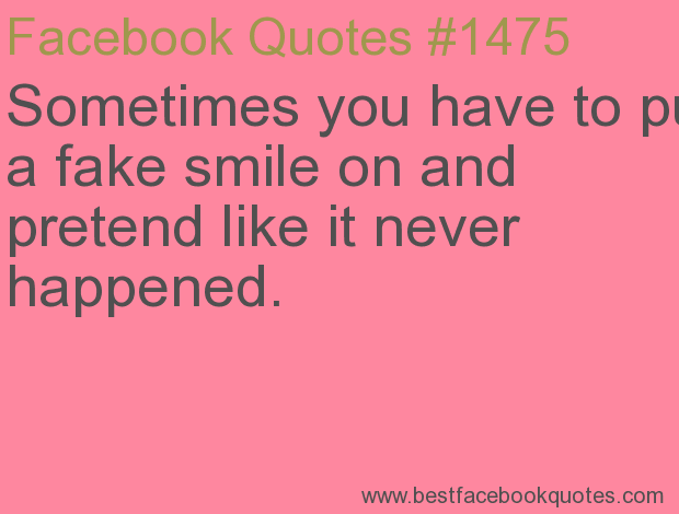 Putting A Fake Smile Quotes On About. QuotesGram