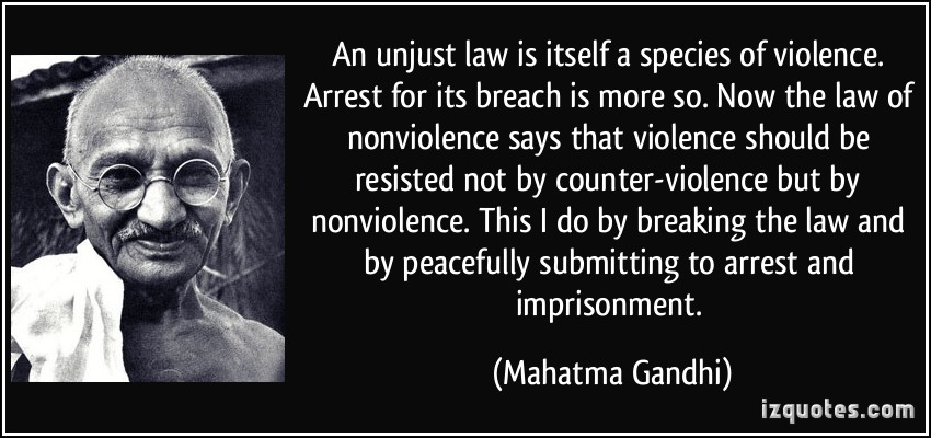 the justness of breaking unjust laws essay 56 quotes have been tagged as civil-disobedience: martin luther king jr: 'one has a moral responsibility to disobey unjust laws', howard zinn: then i say, break the law let your life be a counter-friction to stop the machine what i have to do is to see, at any rate.