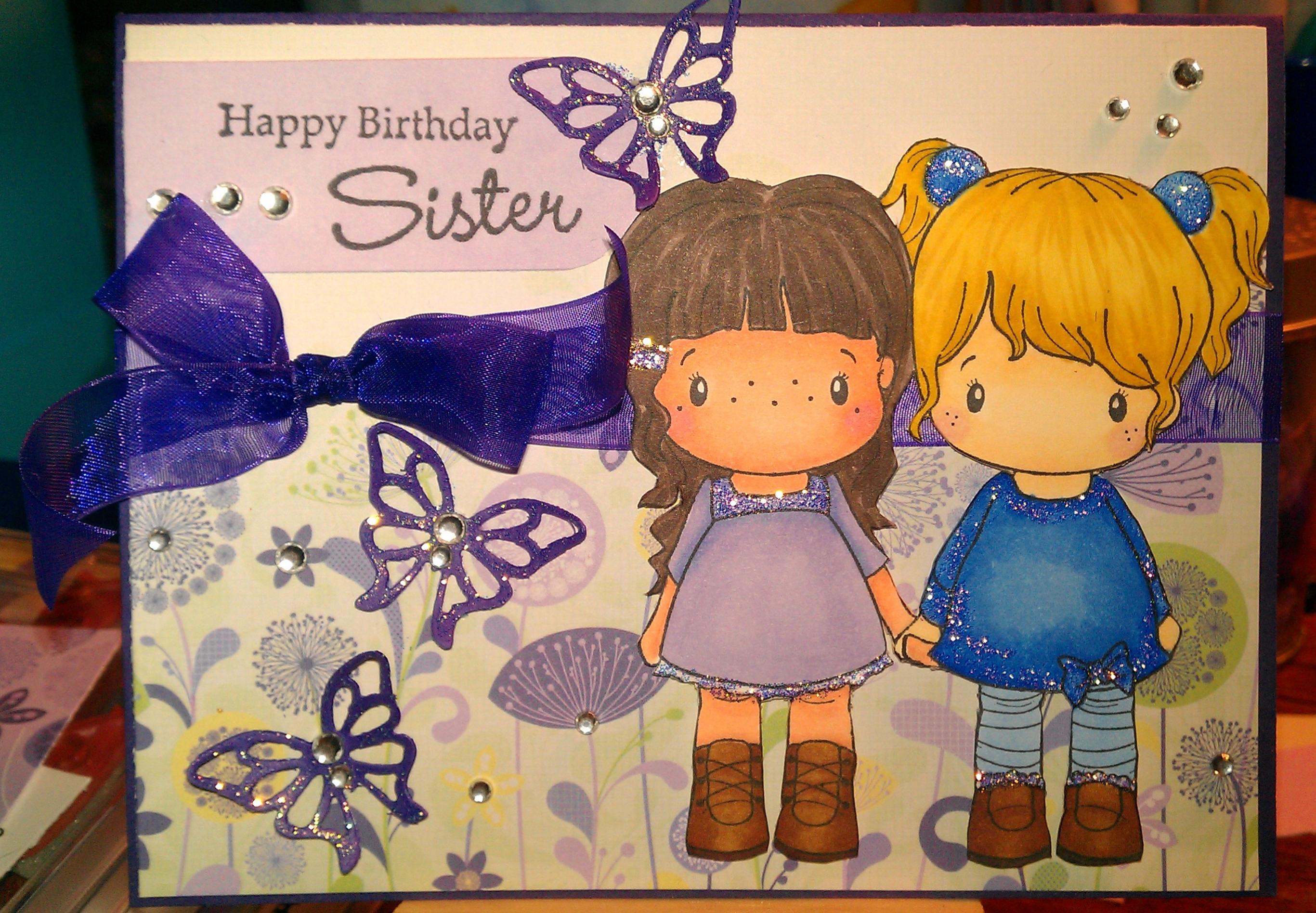 Открытка с днем рождения сестре на английском языке, приколов картинках
