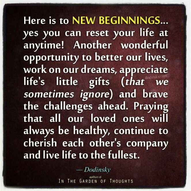 New Beginnings Quotes New Year S. QuotesGram