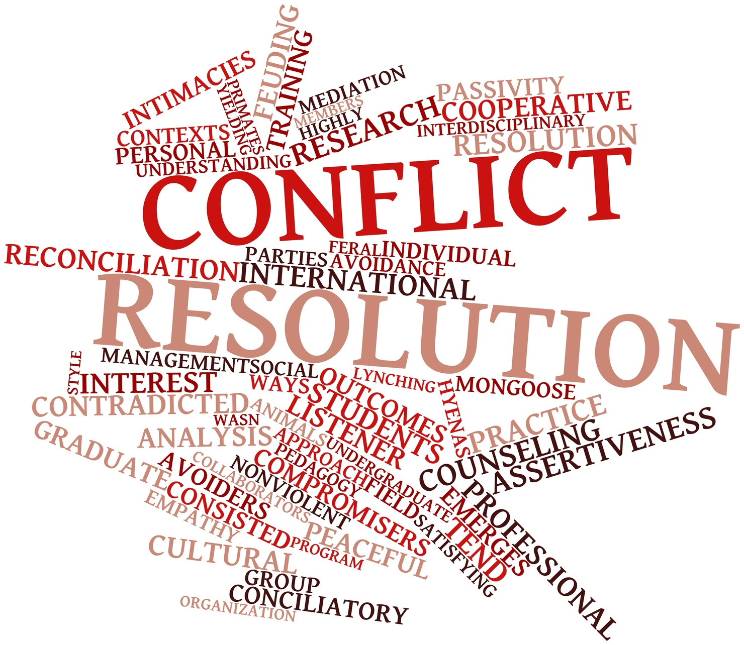 conflict resolutions Conflict resolution is the process of resolving a dispute or a conflict by meeting at least some of each side's needs and addressing their interests.
