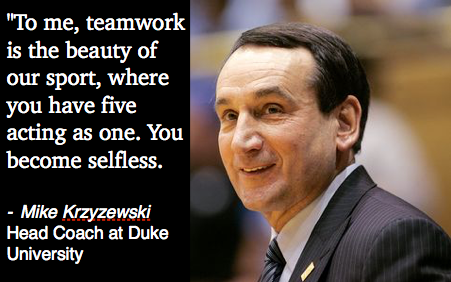 Coach K Quotes On Teamwork. QuotesGram