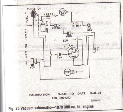 Vacuum on 1972 Ford F100 Vacuum Line Diagram