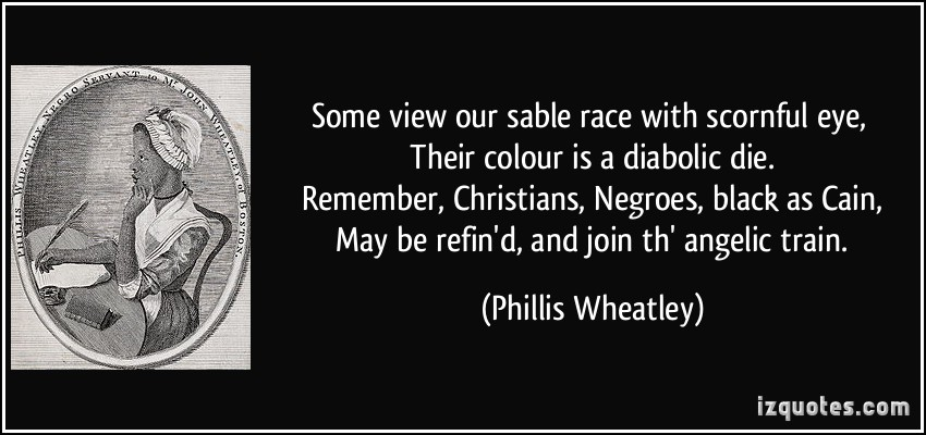critical essays on phillis wheatley Poetry analysis - wheatley's poem on being brought from africa to america.