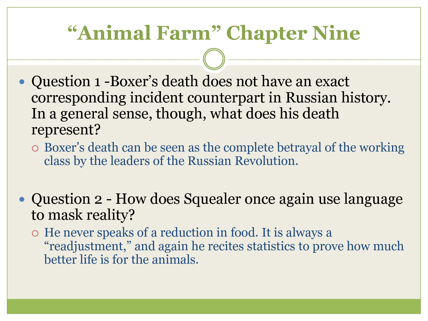 animal farm and strummer quotes Why should you care about what napoleon (a pig) says in george orwell's  animal farm don't worry, we're here to tell you.