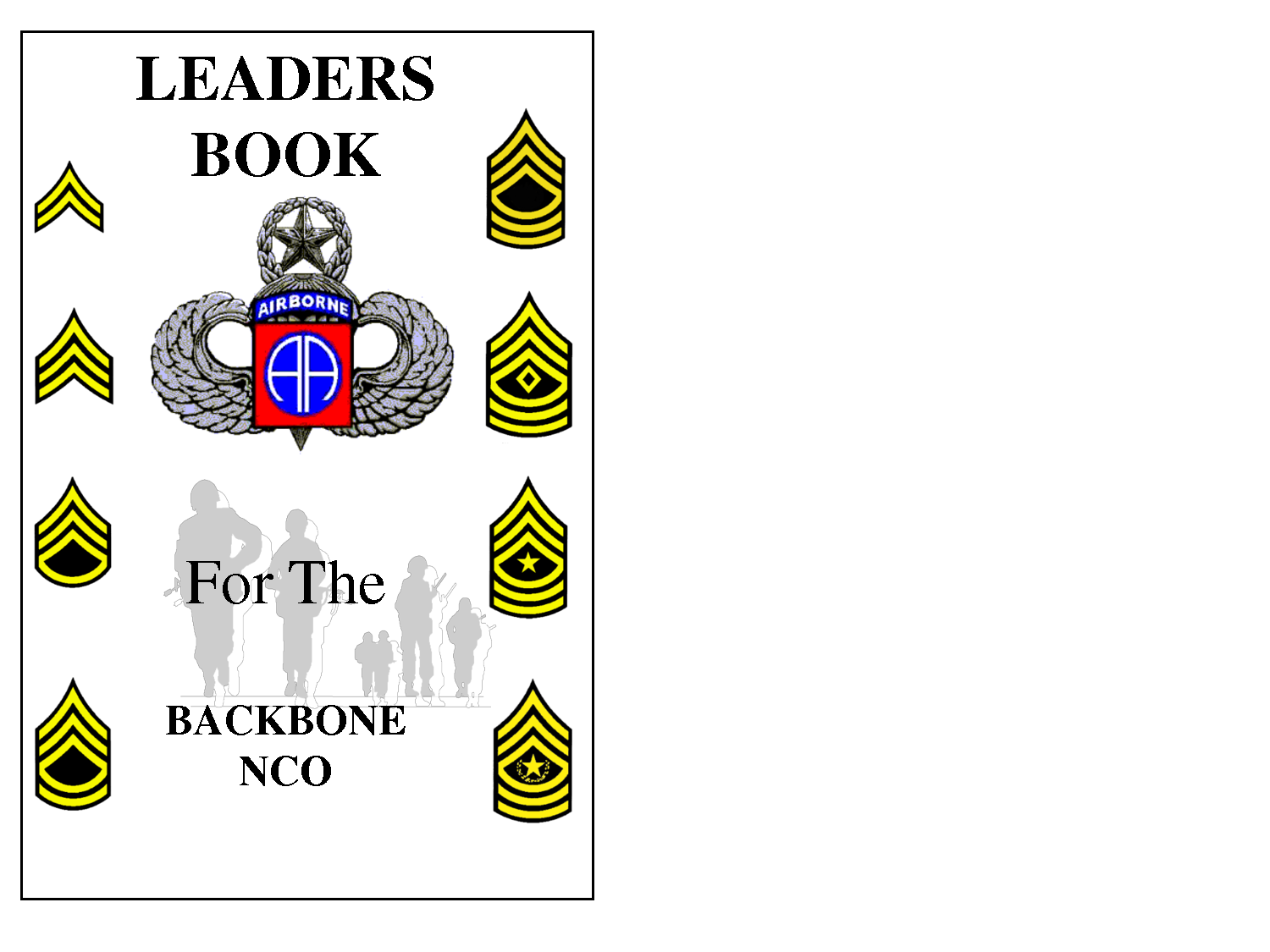 army leaders book template army nco leadership quotes quotesgram 20503