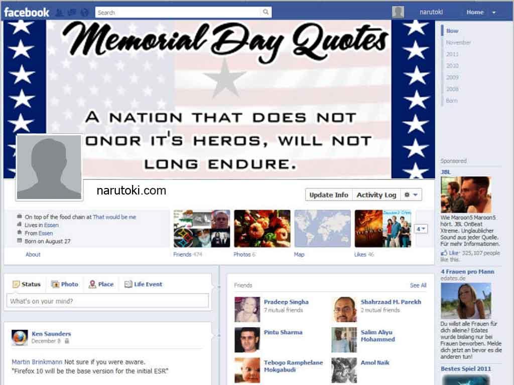 Memorial Day Quotes For Facebook. QuotesGram