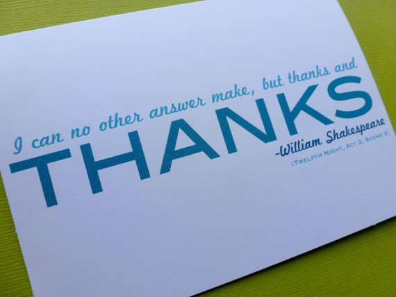Shakespeare Quotes On Thanks. QuotesGram