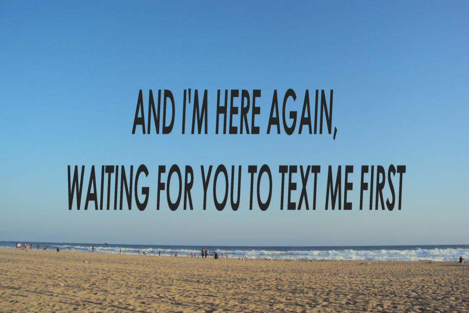 Me for to him should first wait text i How Often