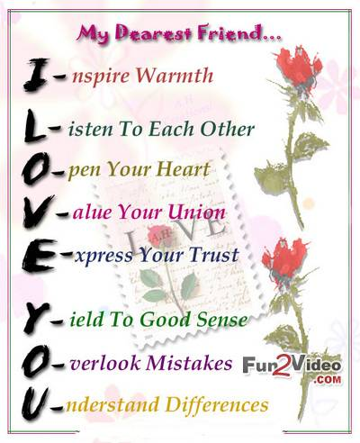 Love friend to a How to