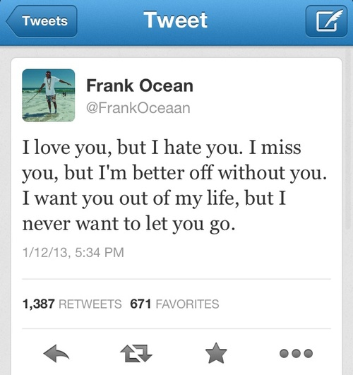 Twitter Picture Quotes: Frank Ocean Twitter Quotes. QuotesGram