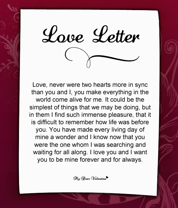 Sweet Letter To Write Your Girlfriend
