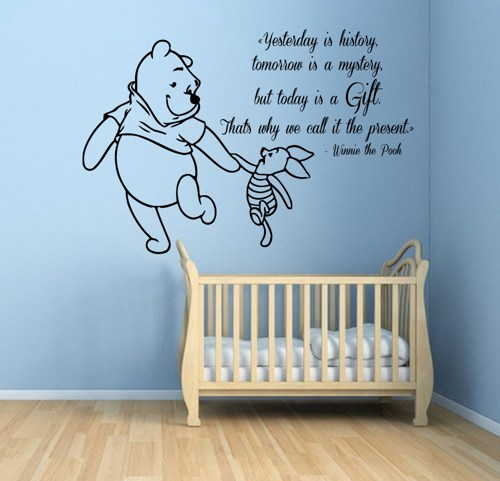 Baby Boy Nursery Wall Decals: Winnie The Pooh Quotes For Baby. QuotesGram