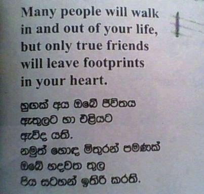 sinhala quotes about friends quotesgram