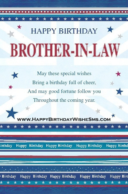 Brother In Law Birthday Quotes Quotesgram