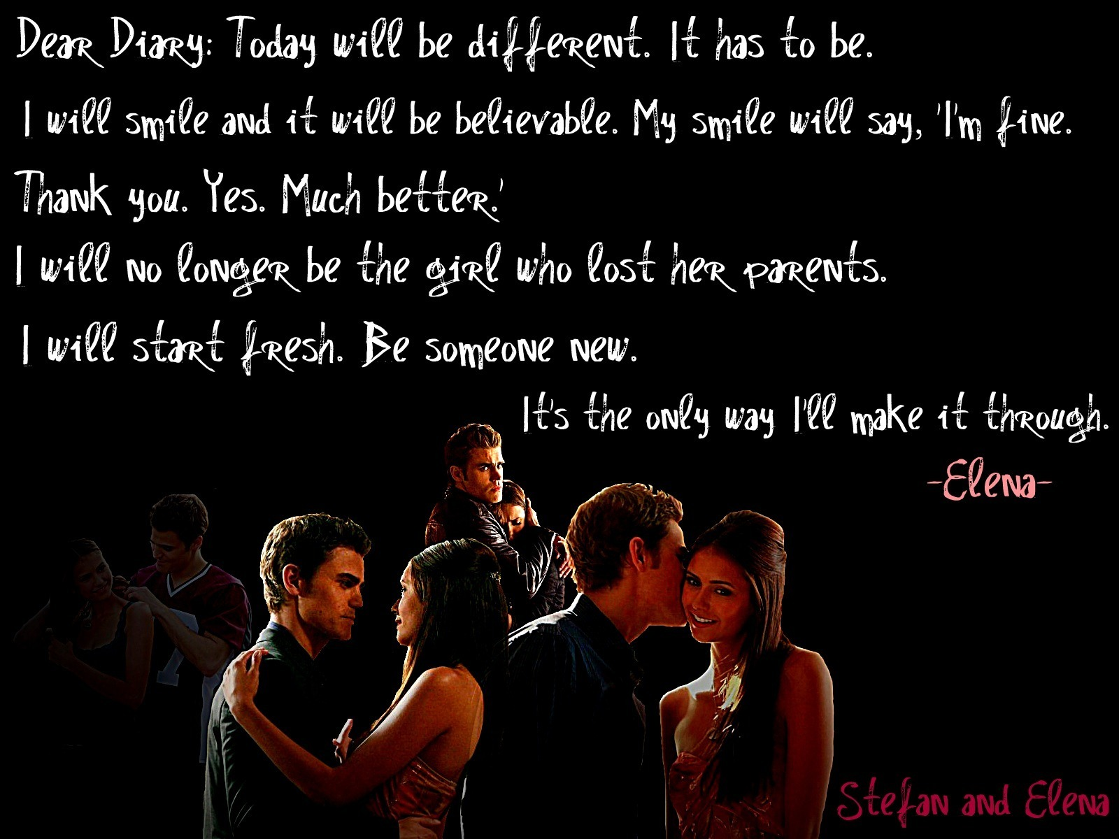 Vampire Love Quotes Wallpaper : Stefan And Elena Love Vampire Diaries Quotes. QuotesGram