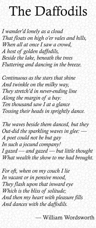 william wordsworth daffodils essay