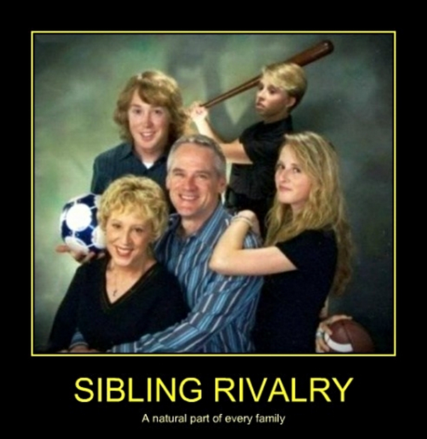 Funny Quotes About Sibling Rivalry Quotesgram