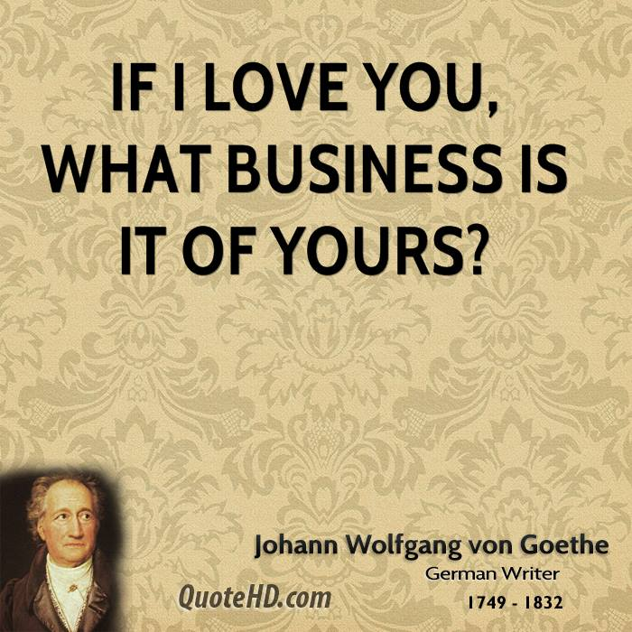 Goethe Quotes About Love: Goethe Quotes On Love. QuotesGram
