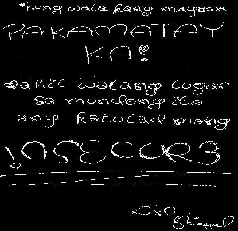 Quotes About Sorry Tagalog: Insecure Quotes Tagalog. QuotesGram