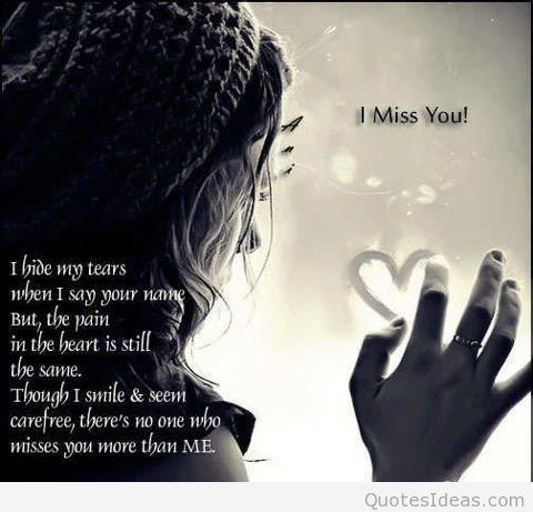 Miss quotes u i sad Missing You