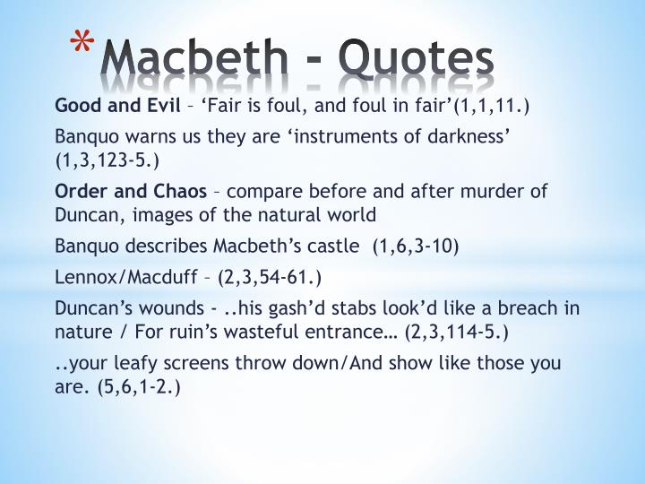 Macbeth corrosive nature of power