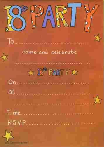 18th Birthday Quotes For Invitations Quotesgram