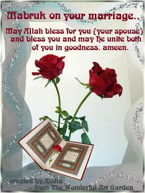 Islam wishes for wedding in Islamic Wedding